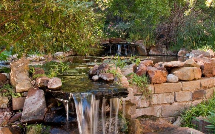 waterfalls landscape landscaping waterwise garden hardscape