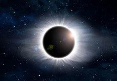 fuld solformørkelse stjerner