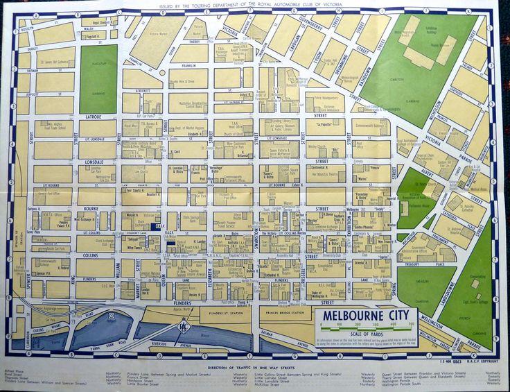 Street Melbourne CBD Map
