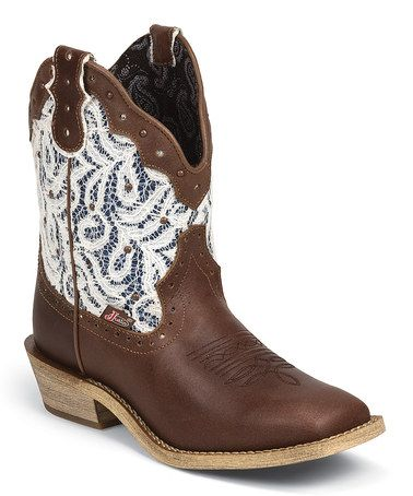 Love this Brown Lux Gypsy Leather Cowboy Boot by Justin Boots on #zulily! #zulilyfinds