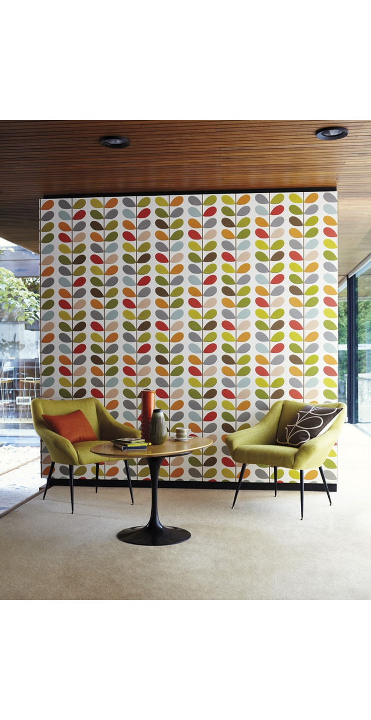 Heal's | Orla Kiely Multi Stem Wallpaper by Harlequin - Wallpaper - Wallpaper - Accessories
