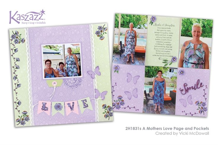 2H1831s A Mothers Love Page and Pockets