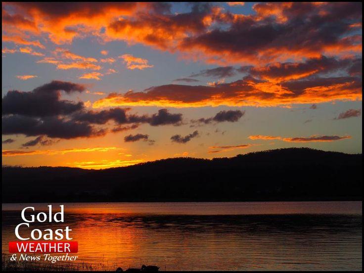 Sunset overlooking Coomera Lake