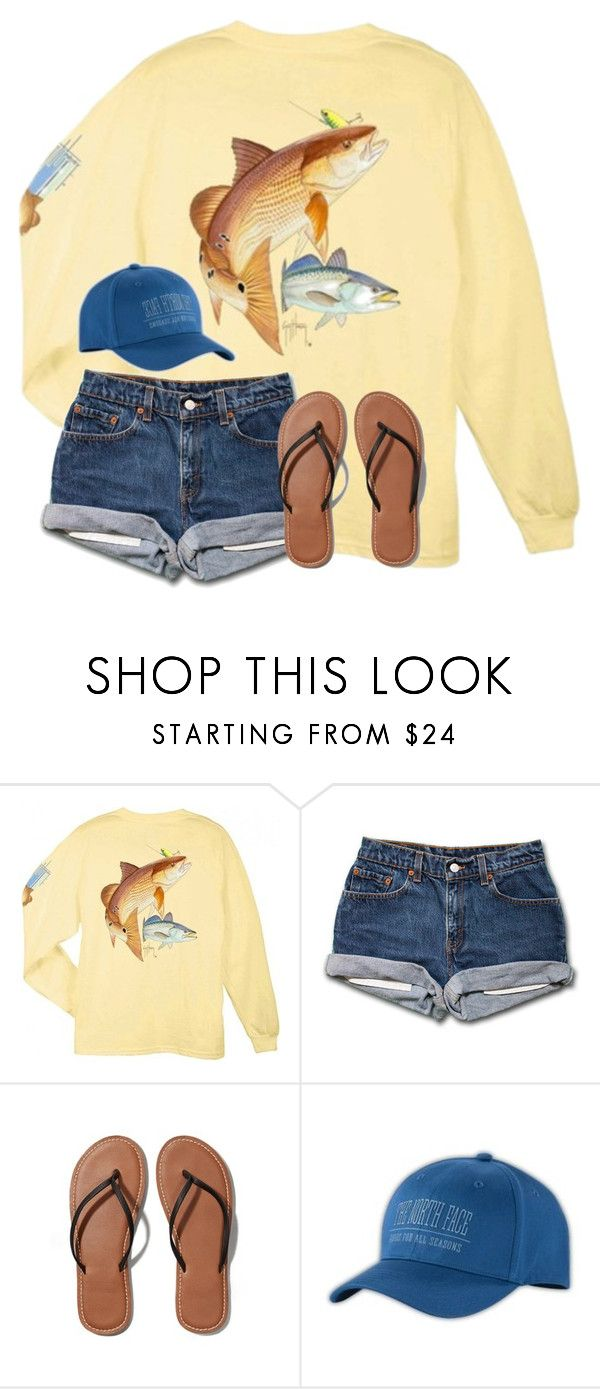 """Fishing is the best!"" by preppy-horsegirl ❤ liked on Polyvore featuring Guy Harvey, Abercrombie & Fitch, The North Face, women's clothing, women, female, woman, misses and juniors"