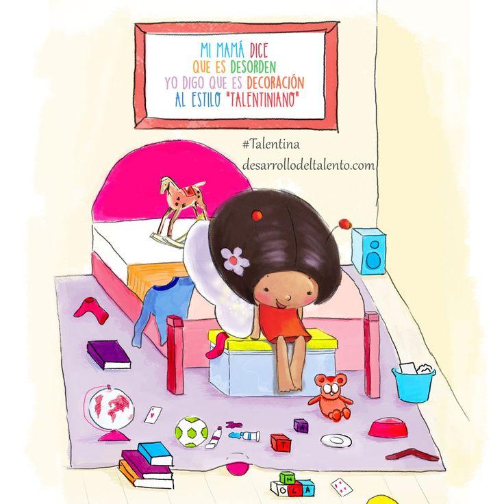 """#Talentina: """"Mi mamá dice que es desorden, yo digo que es decoración al estilo """"Talentiniano"""""""