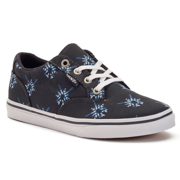 Vans Winston Girls' Suede Skate Shoes, Size: medium (13), Dark Blue