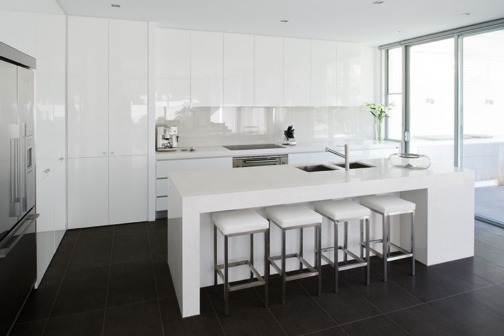 Simple, elegant and timeless White True Reflections by Albedor. Visit our website for more inspiring design ideas http://www.albedor.com.au/index.php/products/ultra-finish-flawless-finish-and-crisp-square-edge/true-reflections-the-ultimate-mirror-finish-gloss-surfaces