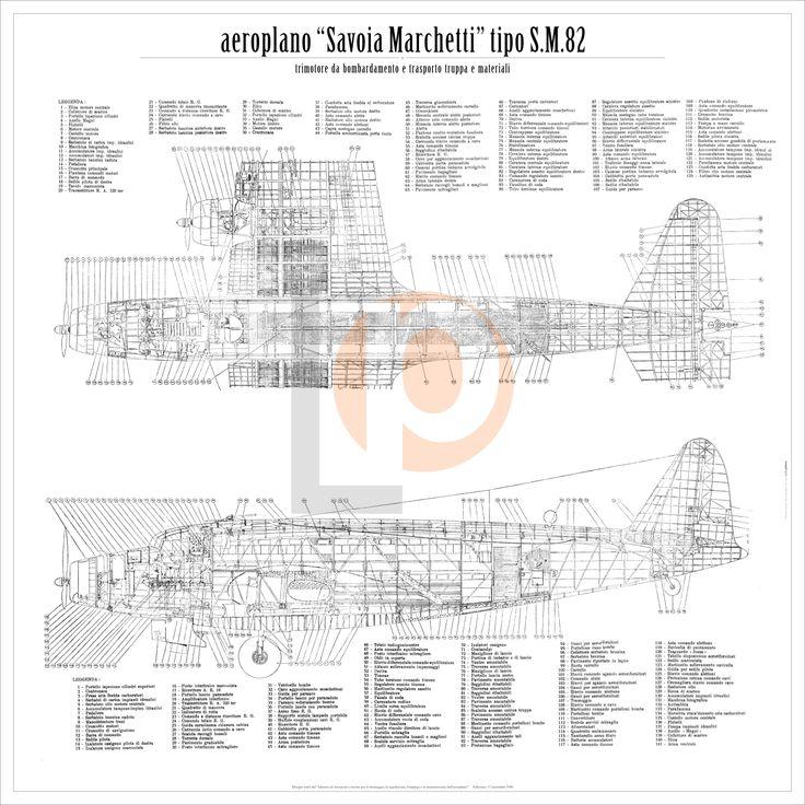 Aeroplano S.I.A.I. Marchetti SM.82-Cod. SM82-84x84 DUE VISTE