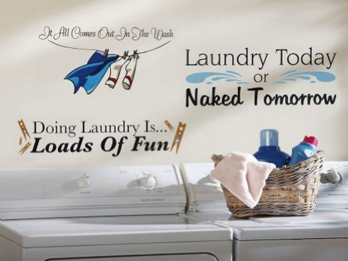 """""""Upgrade Your Laundry Room"""" -- Laundry Room Decals"""