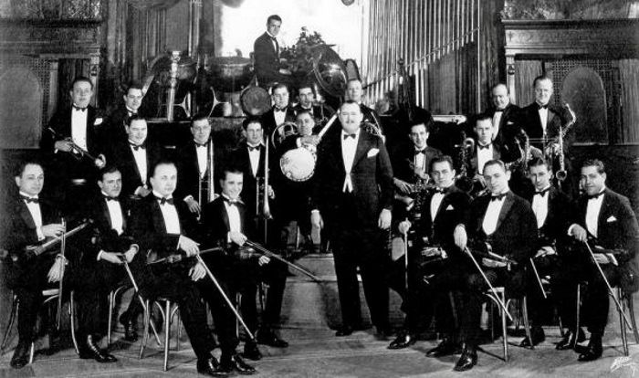 Paul Whiteman & His Orchestra , circa: 1920's - Whiteman was big during the late teens and 1920's - He was the first to use a vocal group in his orchestra - Bing Crosby, Jack Teagarden, Bix Beiderbecke, Joe Venuti, Frankie Trumbauer, Bunny Berigan, etc. all spent time in the Paul Whiteman Orchestra