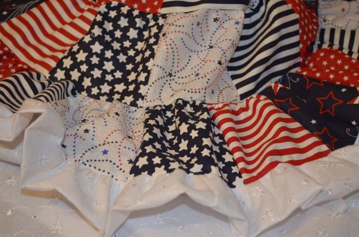 Patriotic dress detail