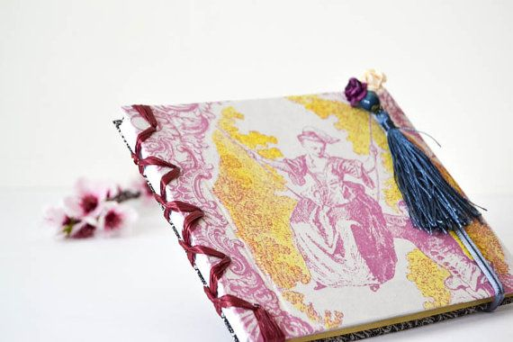 Valentines Day Gift Romantic Journal Wedding Guest Book, Travel Diary, Notebook Sketchbook, Memory Book, Sketchbook, Blank Book Gift For Her