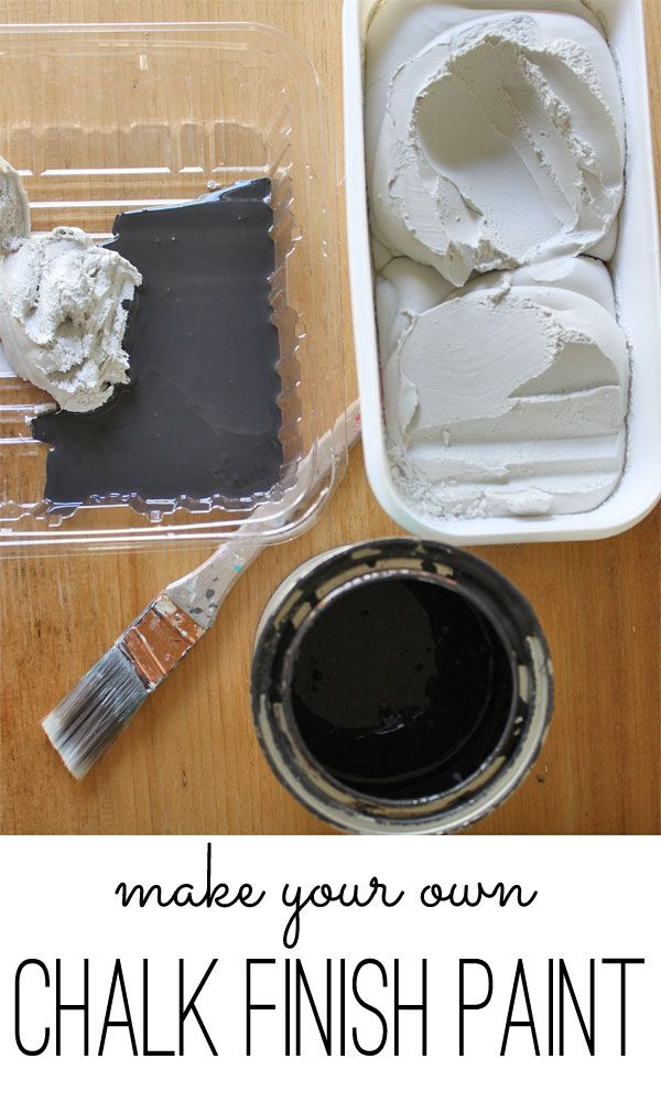 make your own chalk finish paint