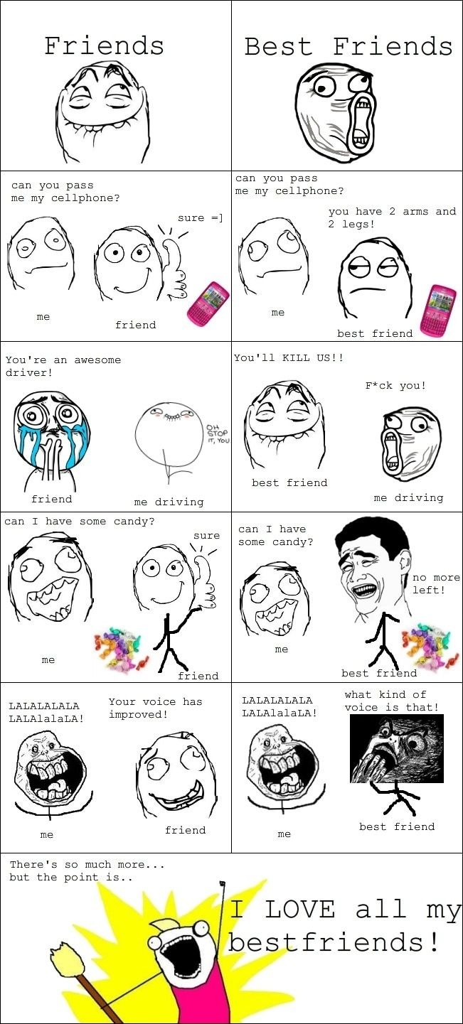 Friends vs. Best friends - Funny Pictures - Funny Photos - Funny Images - Funny Pics