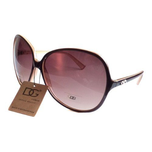 DG EYEWEAR Women's VINTAGE Celebrity Style Designer Oversized Sunglasses BROWN by DG Eyewear. $5.50. Primarily designed for ladies, DG Sunglasses is now one of the hottest brands in the designer sunglasses industry. They are sold in over 100 countries worldwide. These trendy sunglasses features styles and make a fashion statement.