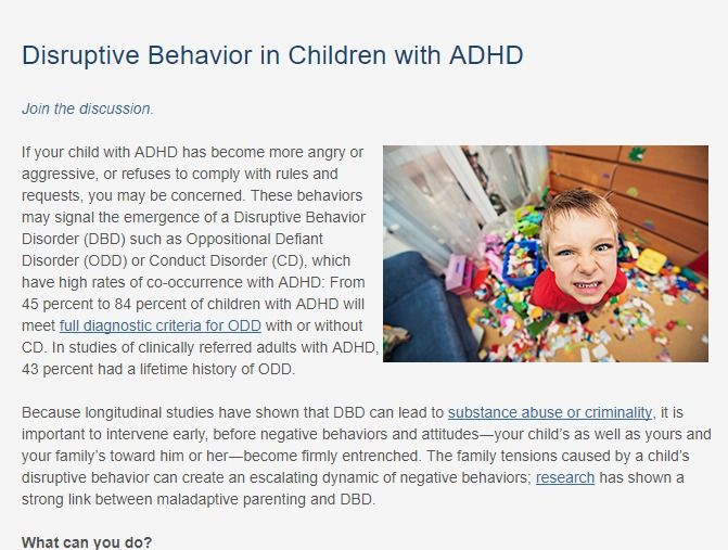 Review of 6 treatment approaches for children with DBD