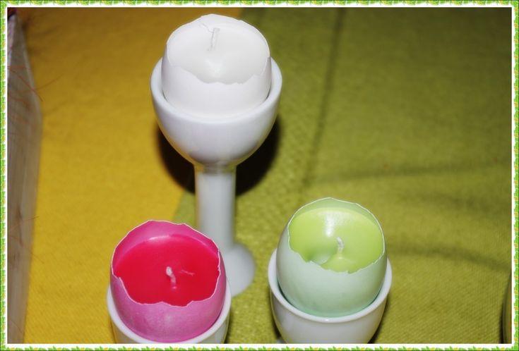 Kjempefin oppskrift på lage lys i eggeskall!