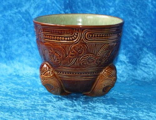 Super Rare NEW Zealand Pottery Crown Lynn Wharetana Maori Conical Vase C 1950 | eBay