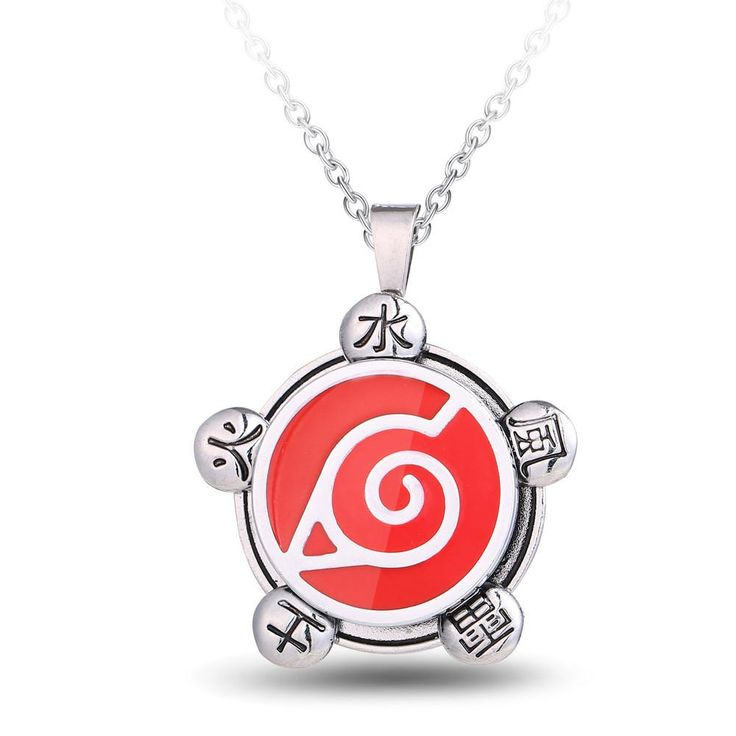 Naruto Metal Alloy Charm Anime Necklace