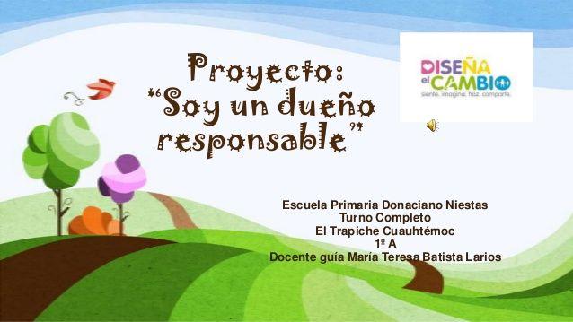 Ejemplo de un proyecto de Diseña el cambio. #DFC #proyecto