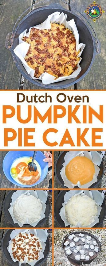 Dutch Oven Pumpkin Pie Cake Recipe