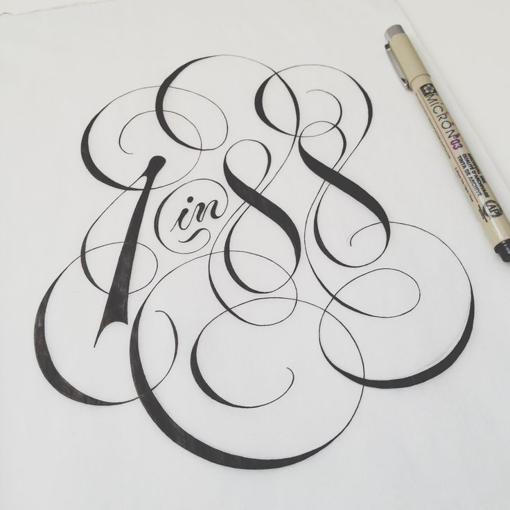 It is elegance and feminine feel of typography. Number 8 well matches to the abstract shape of background.
