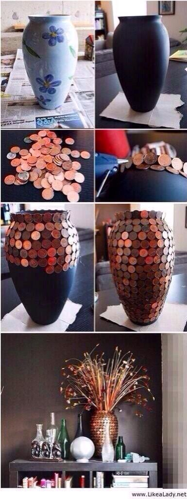 Hmm...I could do this to the base of my bedside table lamp.