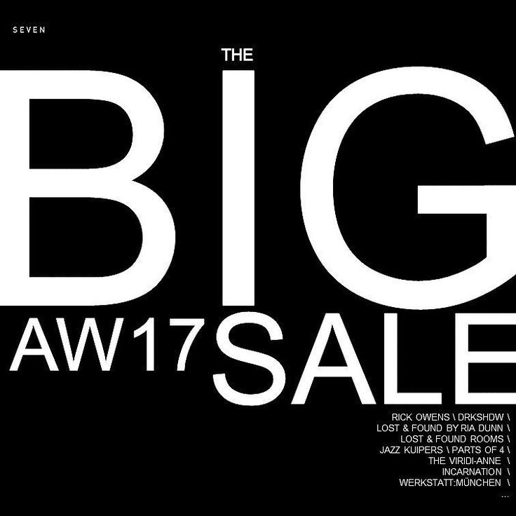 Its that time again @ sevenhelsinki.com   #sale #seasonsale #aw17 #rickowens #drkshdw #lostandfound #incarnation #theviridianne and more
