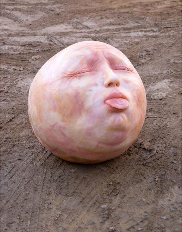 Sculptural Art of Creepy Human Heads by Samuel Salcedo