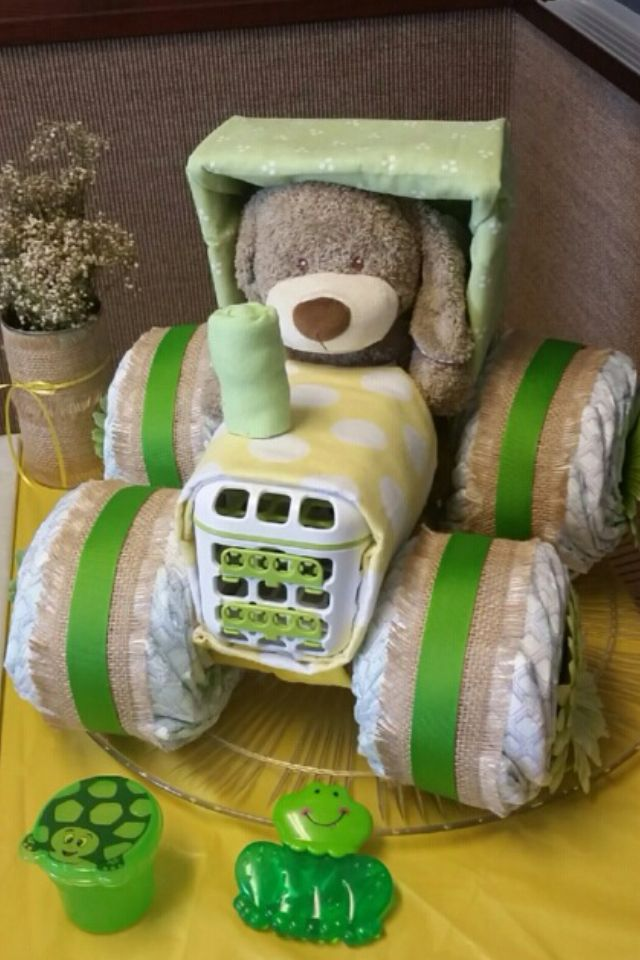 Diaper Tractor by Lynne