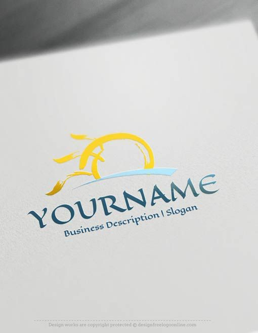 Create a Logo Free – Online Design Sun Logo Templates