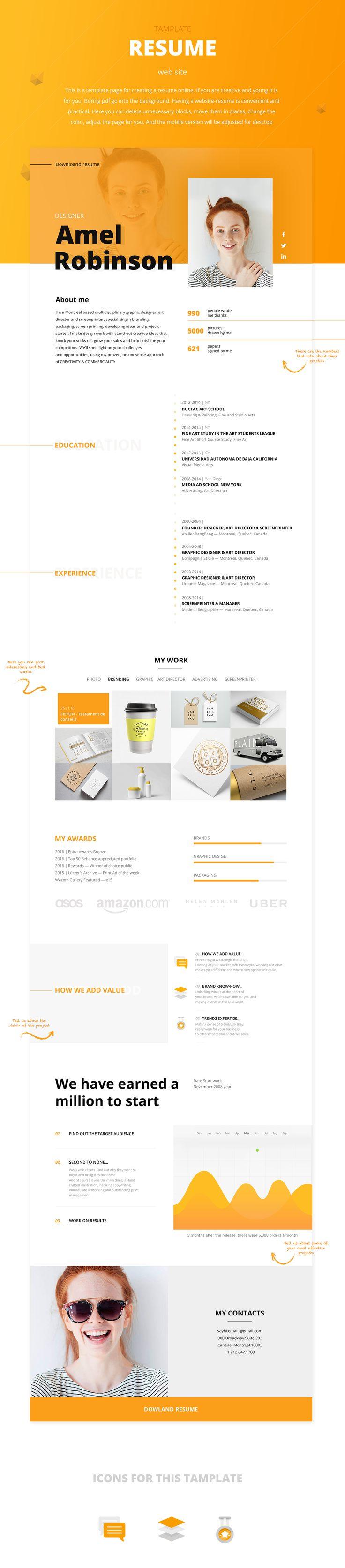 Mejores 1085 imágenes de ? - Design - Resumes en Pinterest | Cv ...