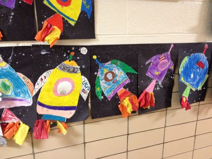 311 best images about awesome art lessons on pinterest for Outer space project