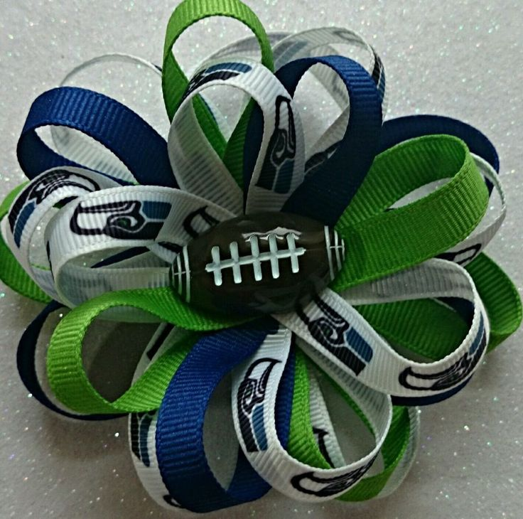 Seattle Seahawks Boutiqe Hair Bow/Ribbon/Flatbacks #RazzleDazzleMe
