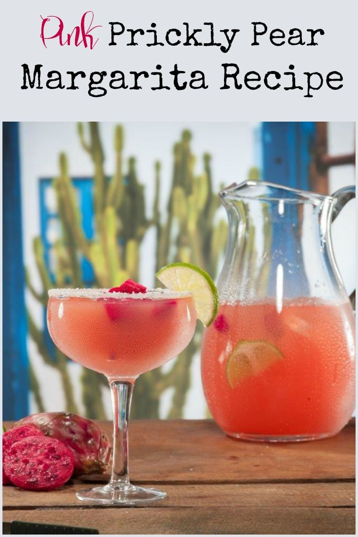 Pink Prickly Pear Margarita Recipe - an easy to make cocktail for a crowd!