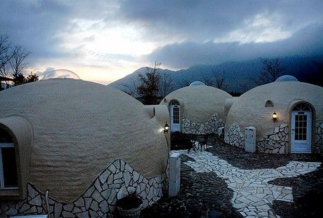 The Dome House is a concept for a new kind of home developed by the Japanese which has been approved by Japanese Ministry of Land and Transport. The materials used to build these home and the actual infrastructure are said to be beneficial in the prevention of aging and the recuperation of your health, energy-saving, earthquake resistance, and environmentally friendly.