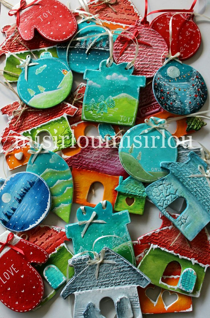 #christmasdecorations #christmasornament #christmastree #christmaseve  #christmascharms #mixedmediachristmas #clayornaments #christmasideas
