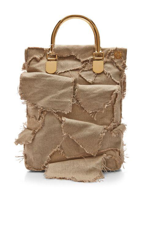 Ecru Canvas Shopper Bag by Loewe