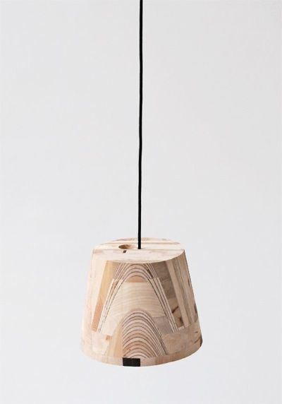 // Amy Hunting: wooden lamp shade