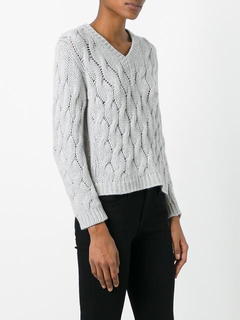 Cruciani cable knit jumper