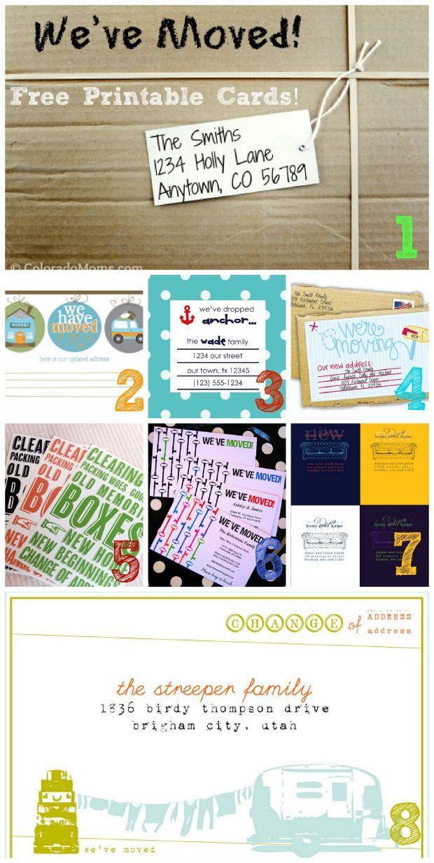 We're Moving: Change of Address Cards {free printables} | Homes.com Inspiring You to Dream Big