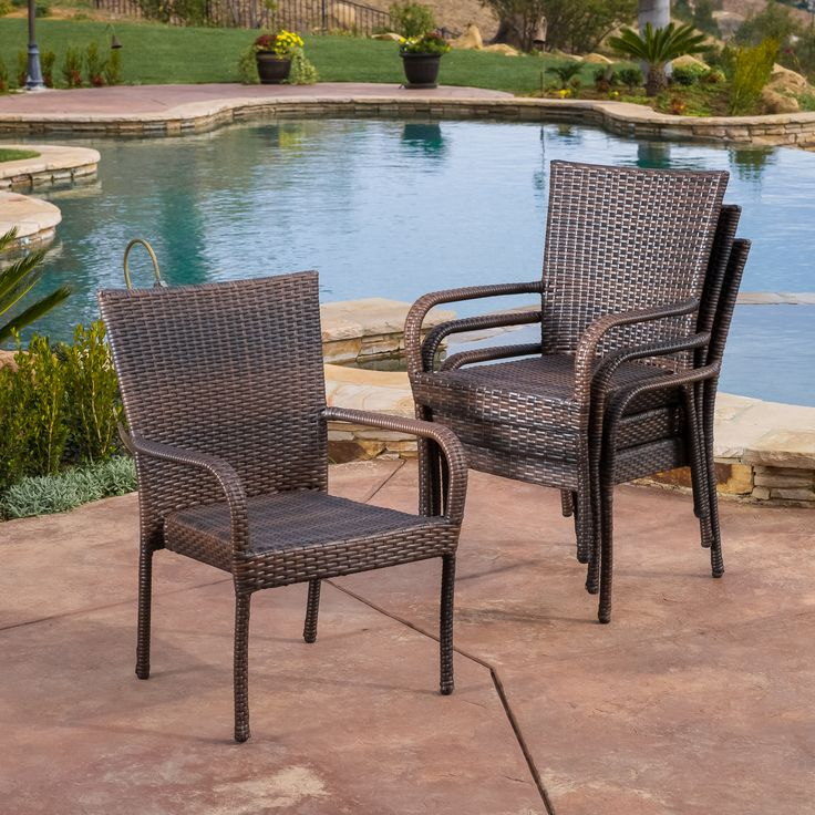 Enhance Your Patio Decor With These Oversized Wicker Chairs. These Chairs  Offer Stylish Comfort,