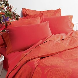 coral colored bedding
