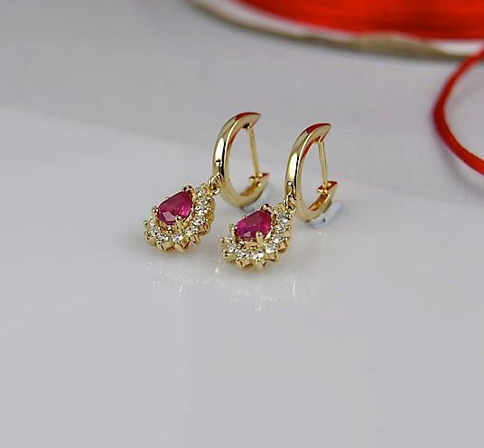 Burmese Ruby, Diamond and 14k Gold