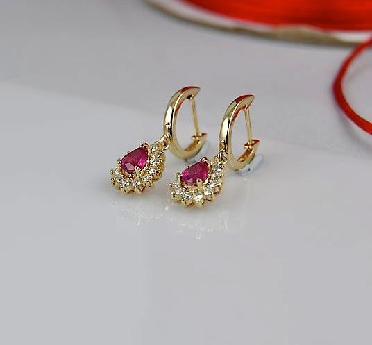 Burmese Ruby, Diamond and 14k Gold