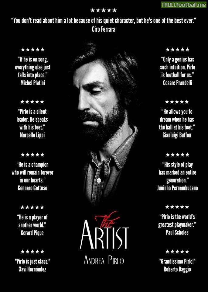 Quotes on The Artist - Andrea Pirlo :