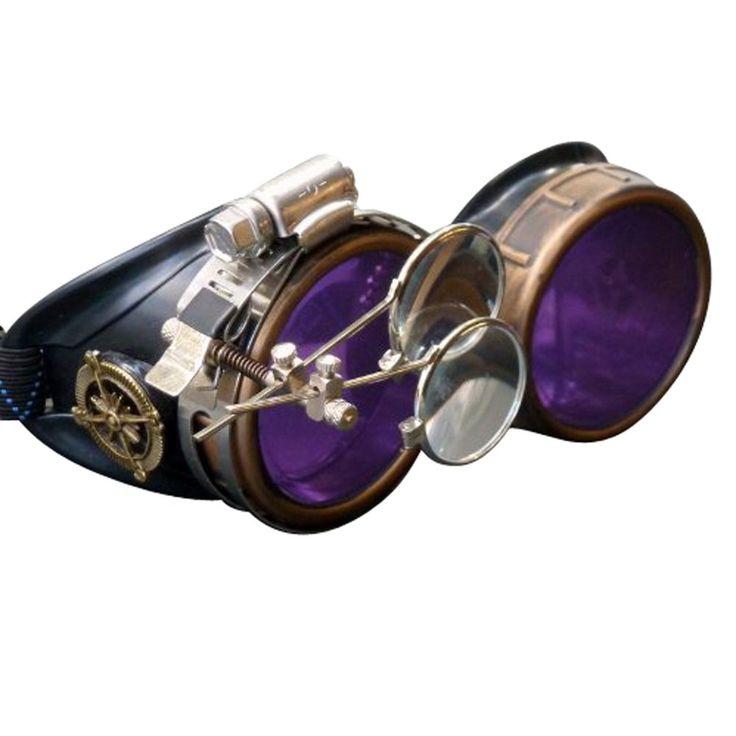 Amazon.com: Steampunk Victorian Goggles welding Glasses diesel punk--gcg: Costume Accessories: Clothing