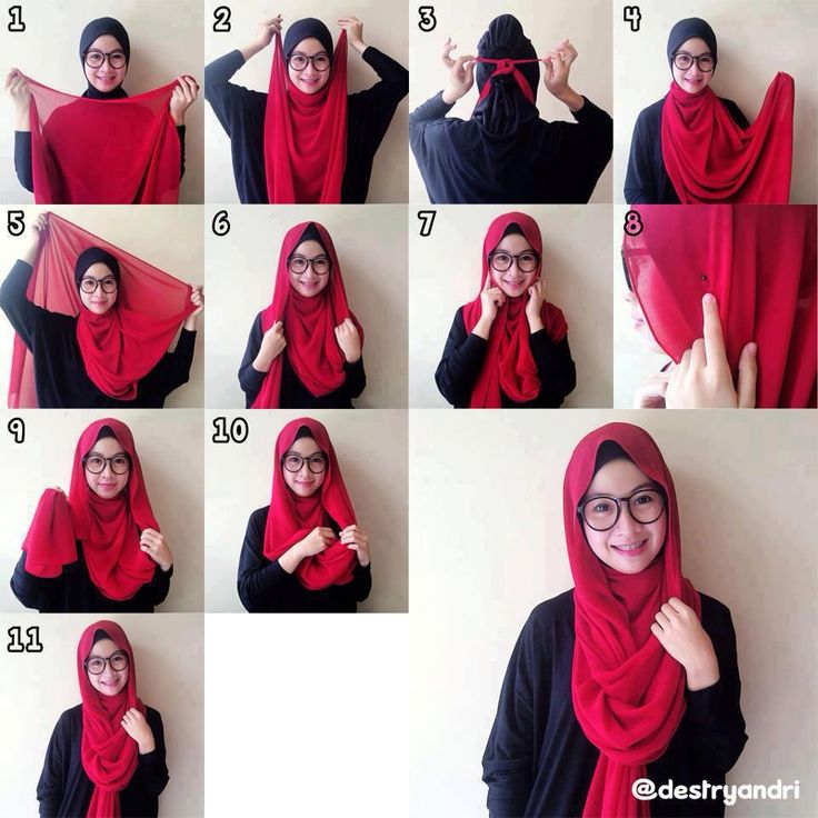 Casual loose hijab tutorial suitable for hijabis with specs.