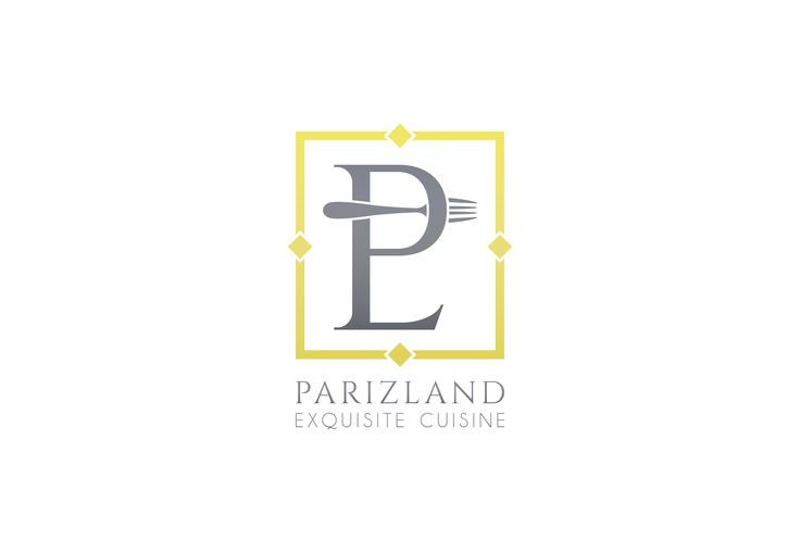 Parizland Restaurant - Logo Design   |  https://www.behance.net/rasam