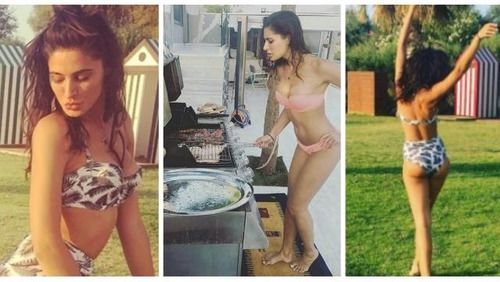 "<p class=""MsoNormal"">Bollywood actress Nargis Fakhri, who's been on a break, is making her fans jealous with her holiday photos and perfect body shape!</p><p class=""MsoNormal""><br></p>  <p class=""MsoNormal"">The 'Housefull-3' actress has been letting herself loose in Greece with her girlfriends, enjoying the sun, sand, sea and the hot bikinis.</p><p class=""MsoNormal""><br></p>  <p class=""MsoNormal"">Here are 9 photos of the leggy lass totally rocking her bikini avatar. </p>   itimes.com"